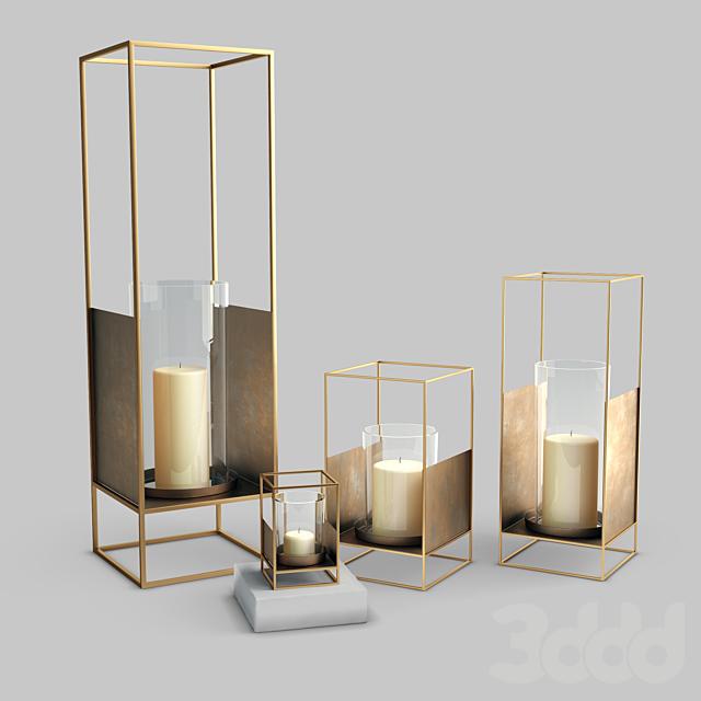 West Elm Metallic Lantern