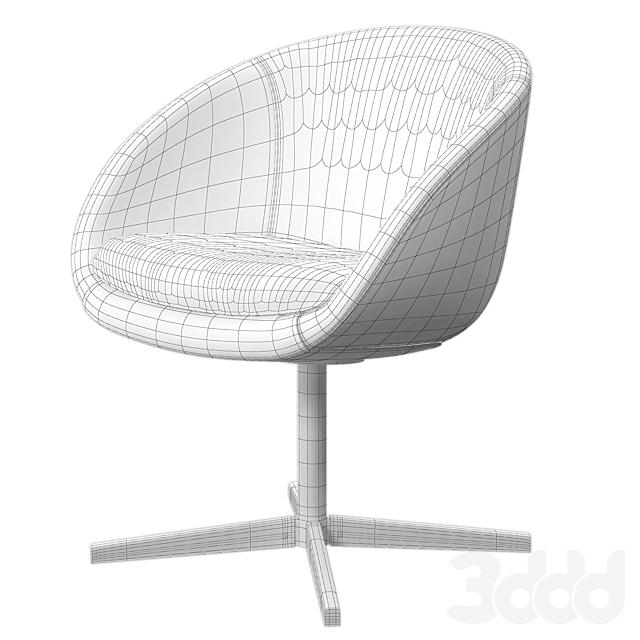 Minotti Russel swivel chair set