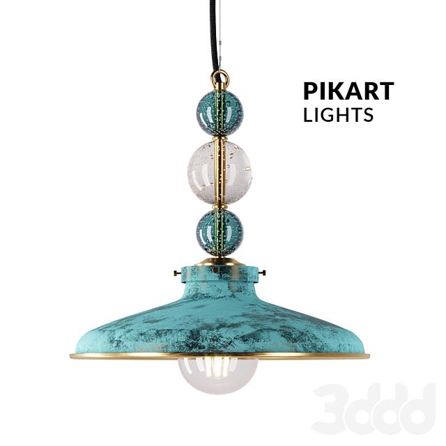 Подвес латунный со стеклянными шарами АРТ. 5423 от Pikartlights