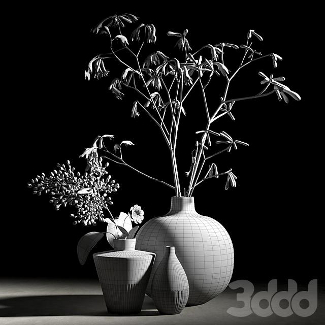 Blue vases set