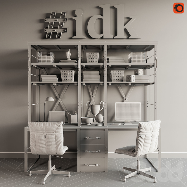 RH French Library Double Desk