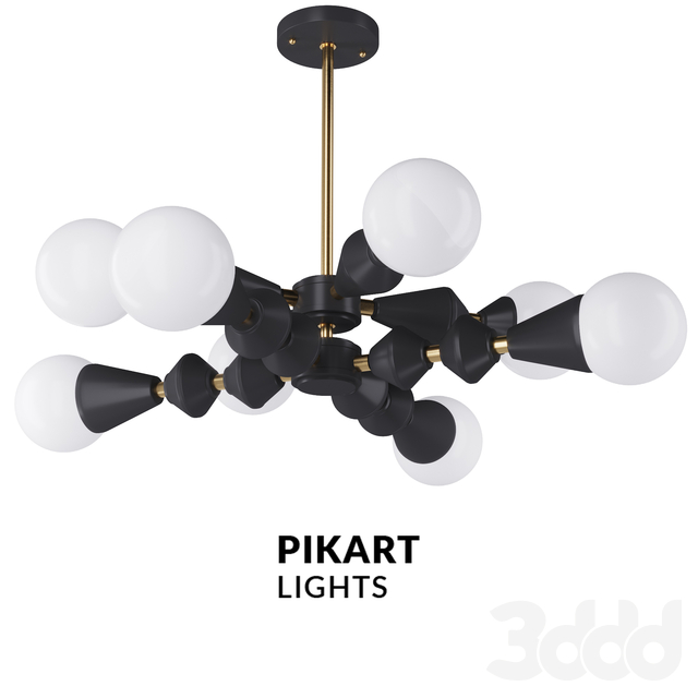 Dome chandelier V6 horizontal black арт. 5990 от Pikartlights
