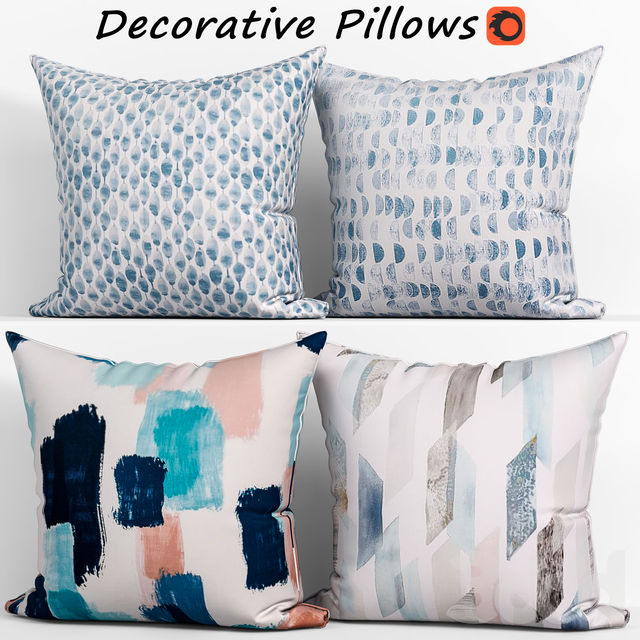 Decorative pillows set 161 ,West elm Organic  Duvet