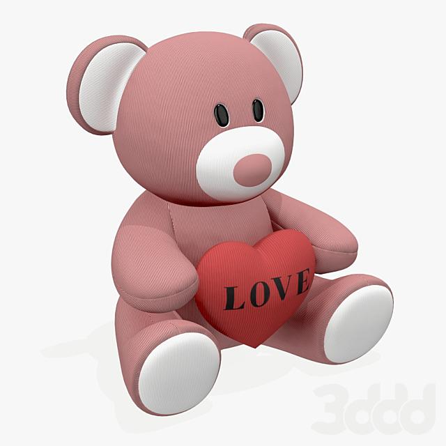 bear teddy plush toy with heart