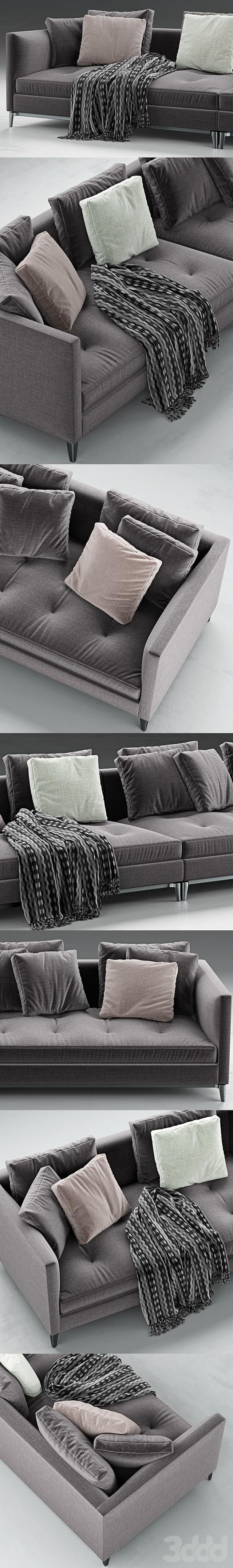 Minotti Andersen Slim 103 Quilt Sofa