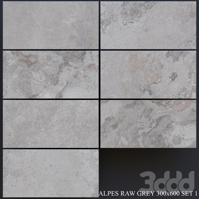 ABK Alpes Raw Grey 300x600 Set 1