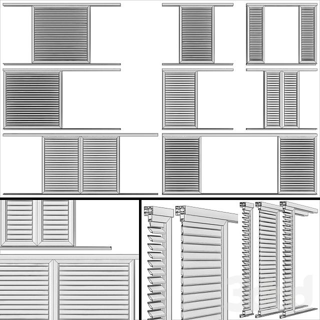 Жалюзийные экраны для окон и дверей