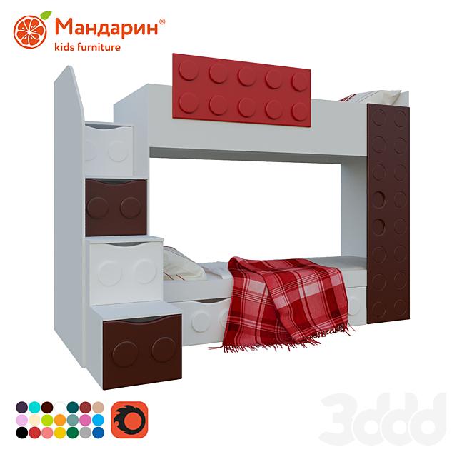 кровать двухъярусная подростковая с доп спальным местом