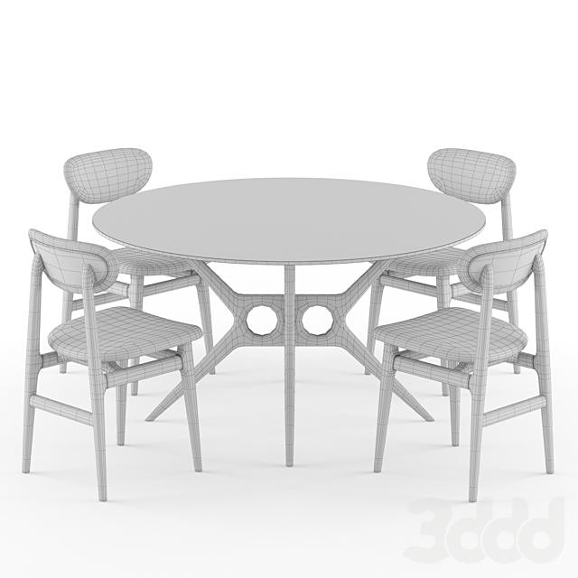 Tosconova Tazio table Forty Canaletto chair