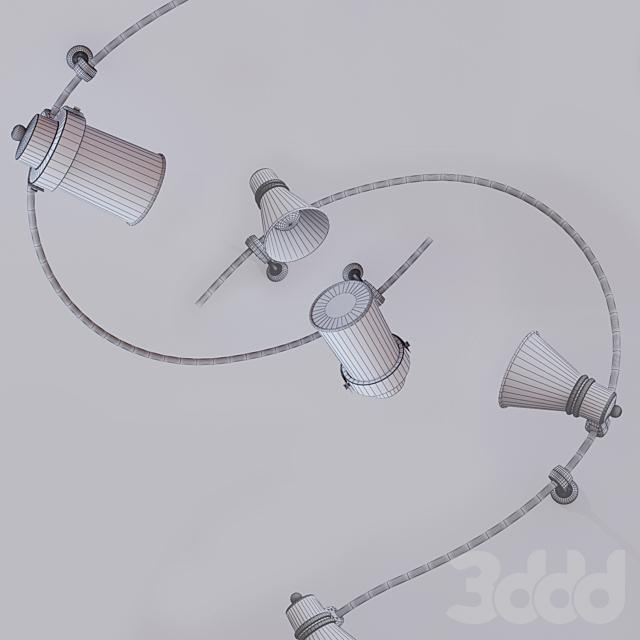 Кованый настенный светильник