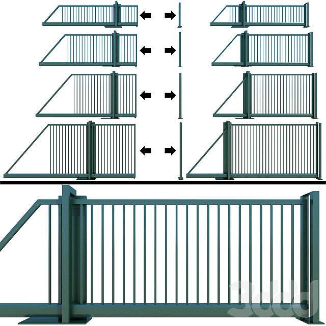 Раздвижные ворота, калитка