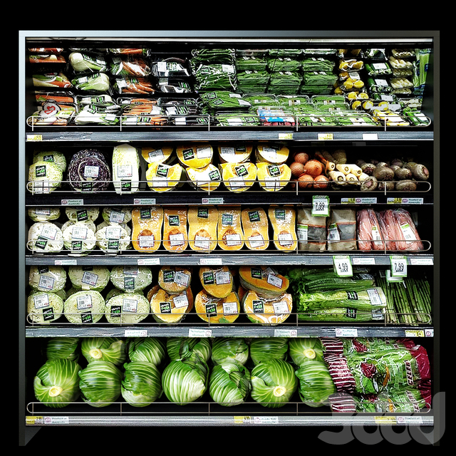 Shelves with vegetables 2