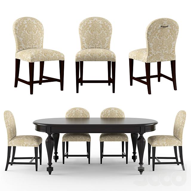 Tosconova  Canova table Flo chair