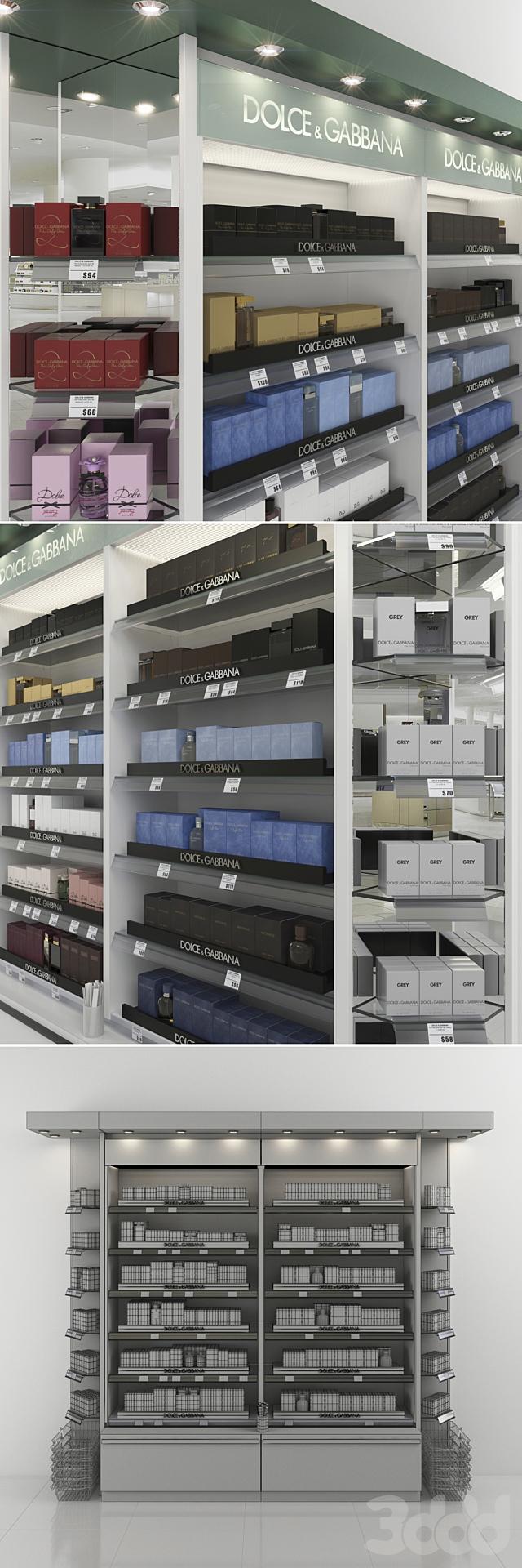 Торговый стеллаж с парфюмерией Dolce & Gabbana