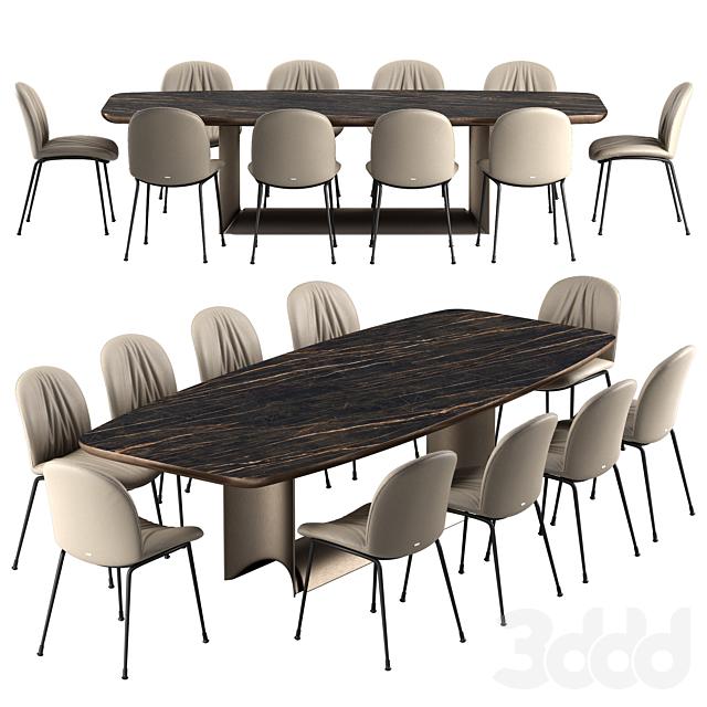 Cattelan italia Tina chair Dragon table set