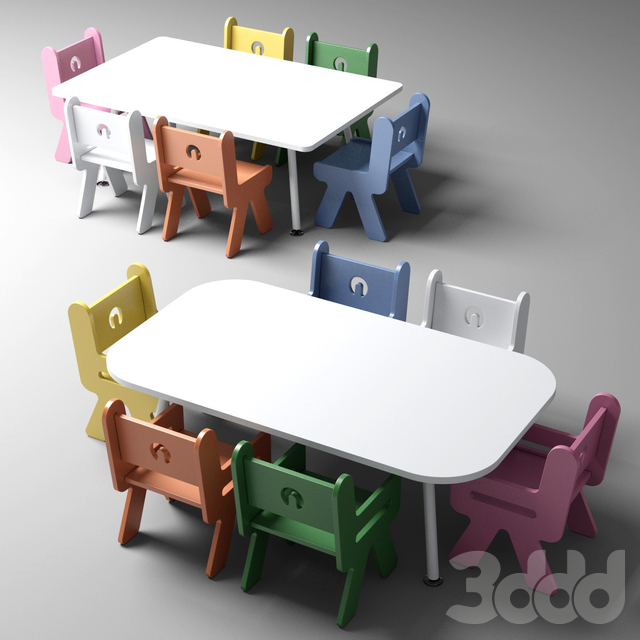 Nursery and kindergarten tables