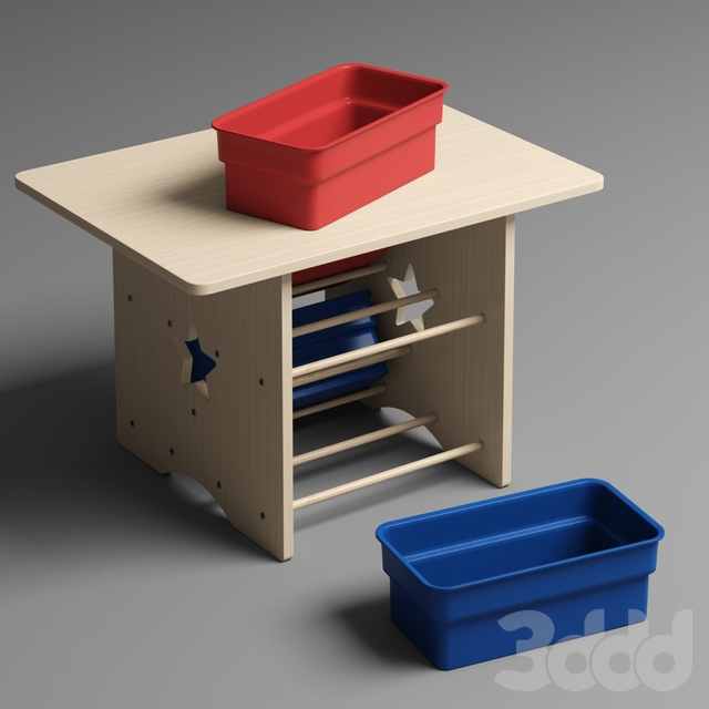 Детский стол с ящиками и двумя стульями KidKraft Star Table & Chair Set