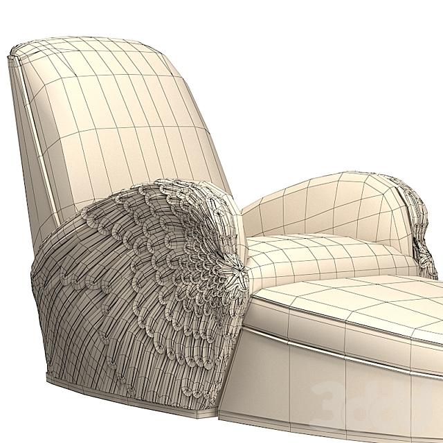 Кресло с оттоманкой Jonathan Charles