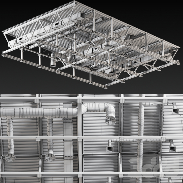 Ceiling Ventilation Grey