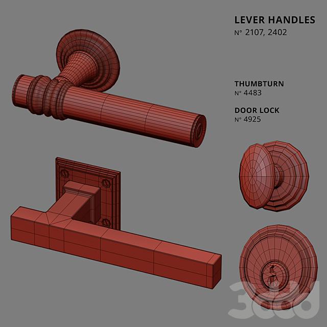Door Lever Handles Nanz N° 2107, 2402