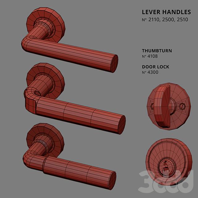 Door Lever Handles Nanz N° 2110, 2500, 2510