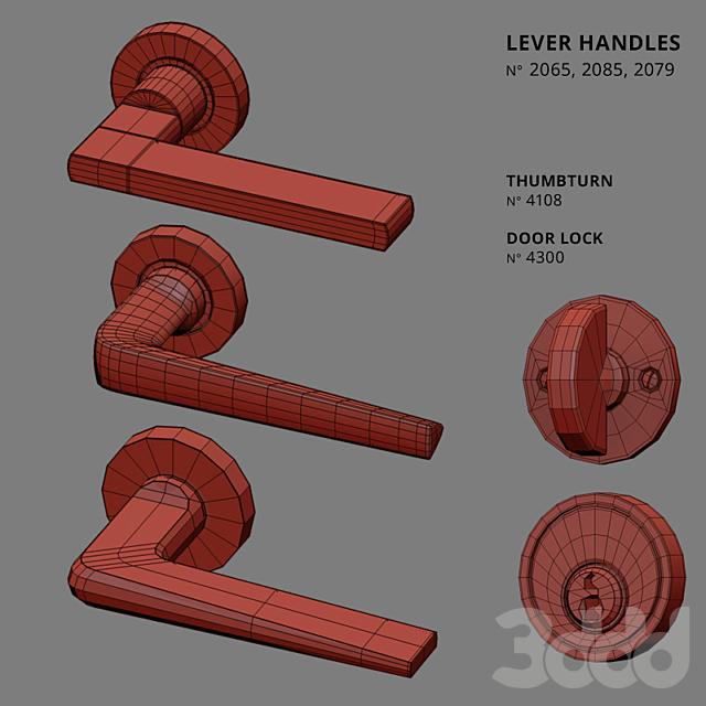 Door Lever Handles Nanz N° 2065, 2085, 2079