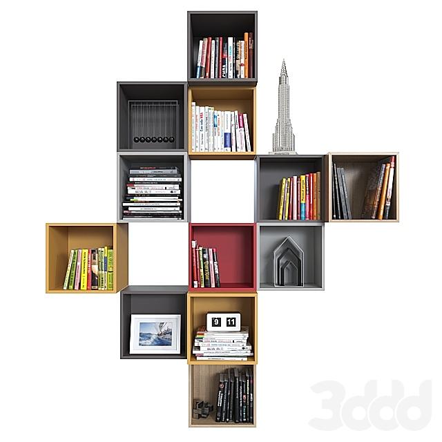 Комбинация настенных шкафов IKEA Экет 3.