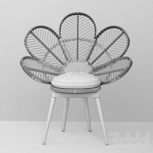Peacock Chair- Flower Chair for Kid