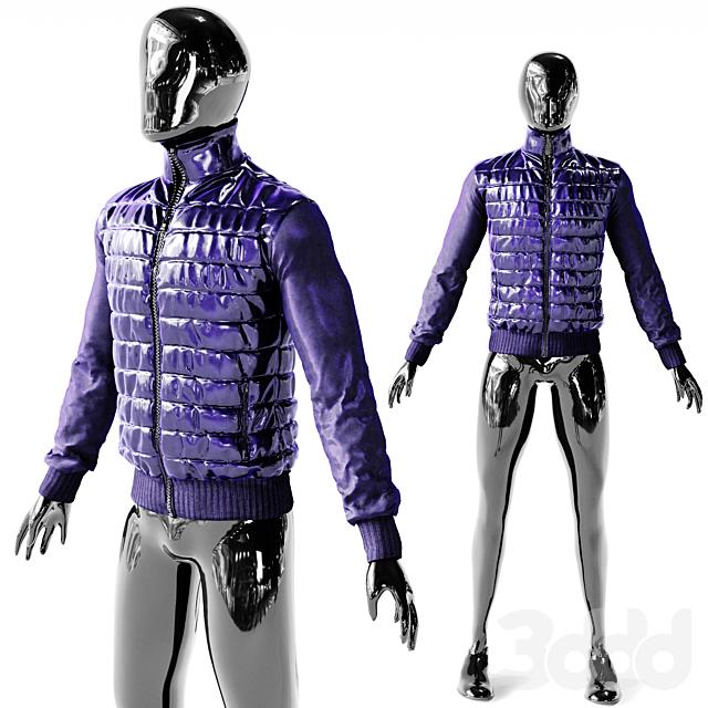 Куртка Фиолетово Голубой Полиамид