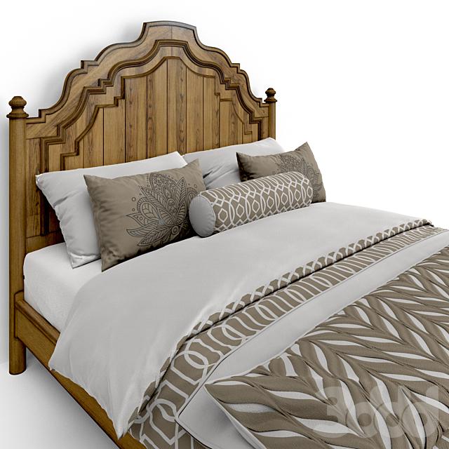 Hooker Furniture Bedroom Auberose King Panel Bed