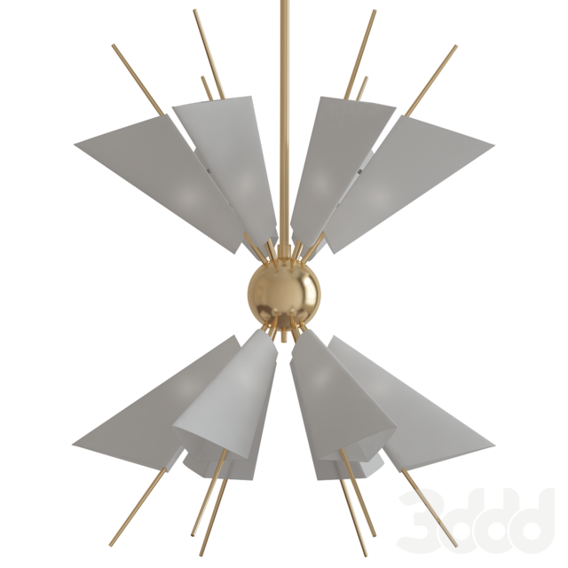 Cooper Wide Aged Brass 24-Light LED Chandelier
