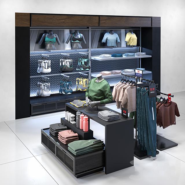 Clothes shop athletic wear 02
