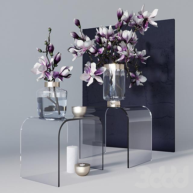 Декоративный набор с магнолией