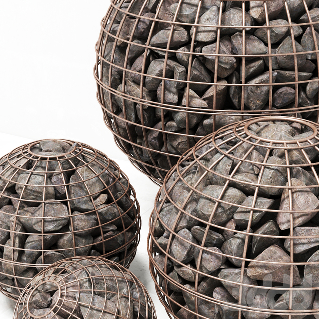 Gabion sphere rock stone / Габион сферический из скального камня