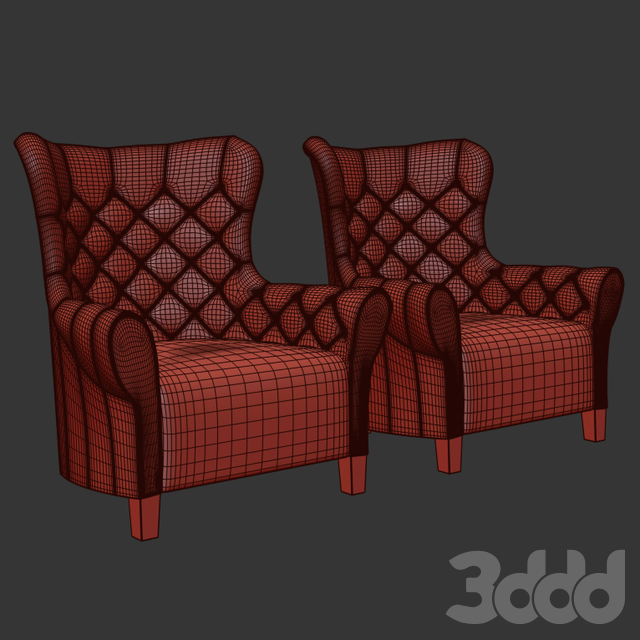 Malerba armchair red carpet collection