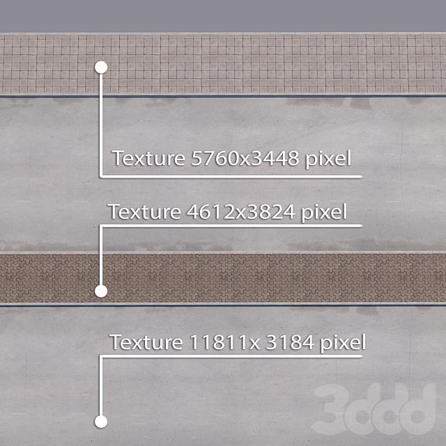 2 варианта тротуара с дорогой set_15