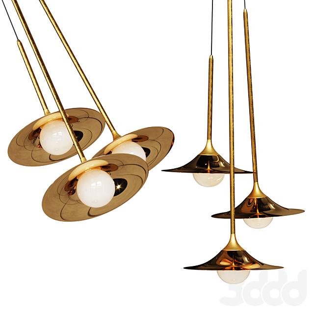Подвесной светильник Bullarum SS-3 Disk Gold