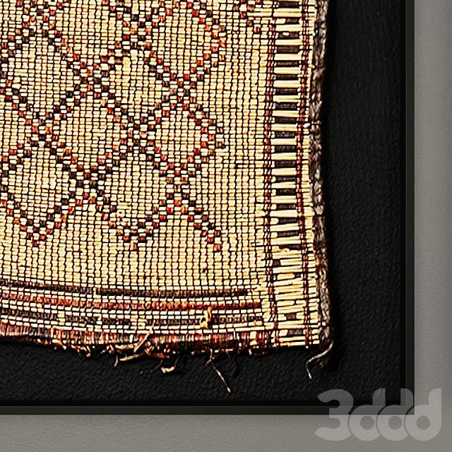 Tuareg Woven Mat Art RH Collection