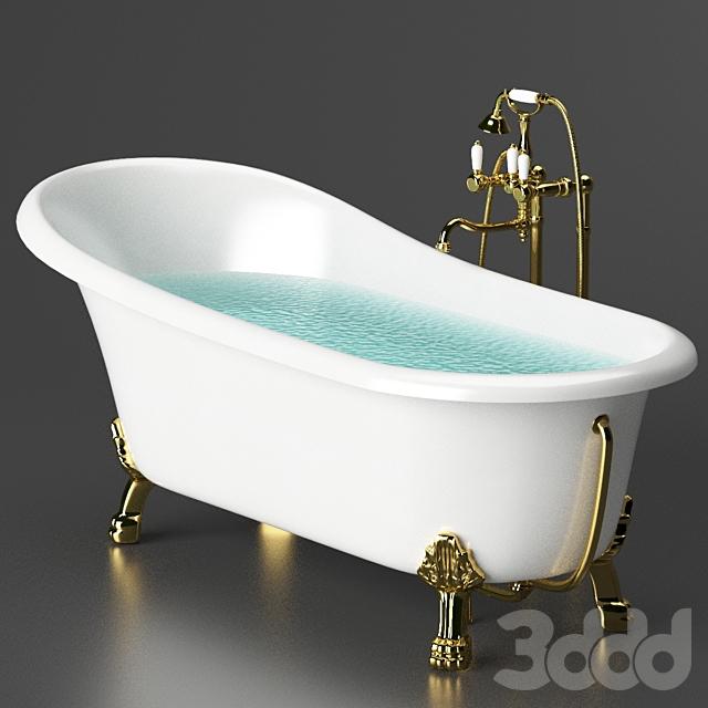 Акриловая ванна BelBagno BB04 + смеситель Cezares