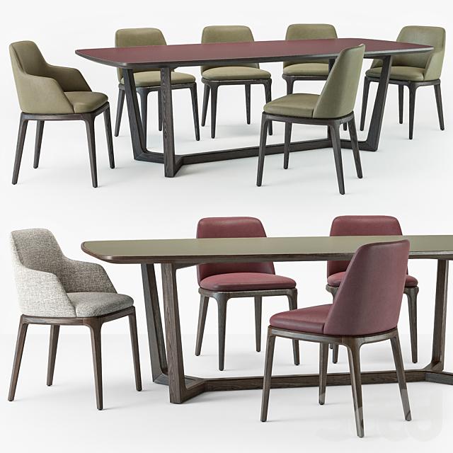 Grace chair Concorde table set