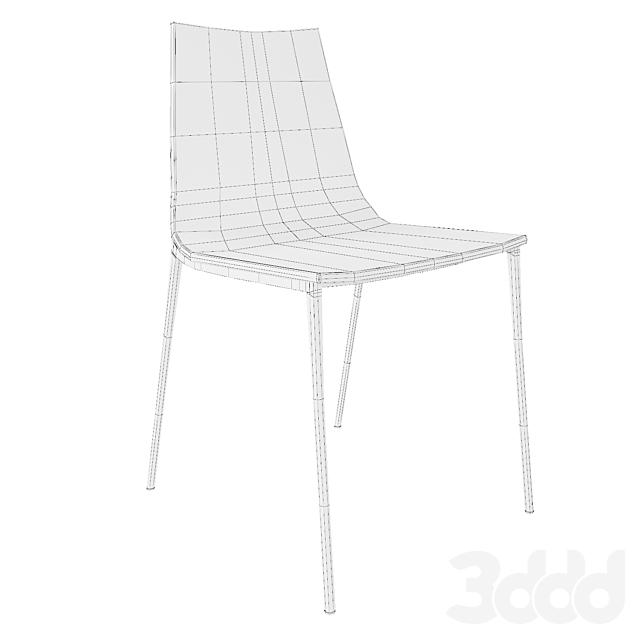 Chiaro clear chair nickel