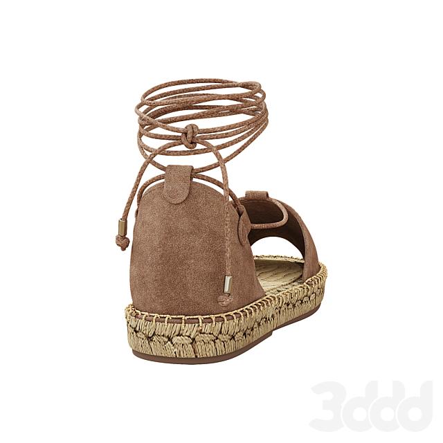 Lace up Espadrilles Alma Taupe Sandals