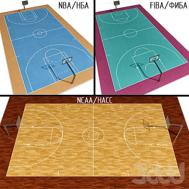 Баскетбольная площадка (NBA / FIBA / NCAA)