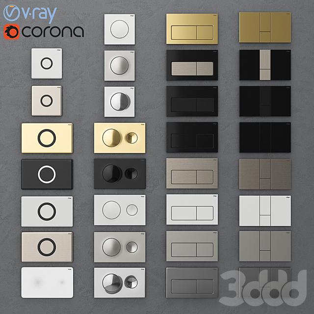 Кнопки смыва для инсталляции Viega 1