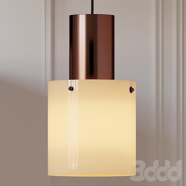 Original BTC WALTER Glass and Opal Pendant Lamp