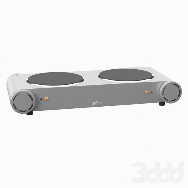 """Portable 21"""" Electric Cooktop with 2 Burners"""