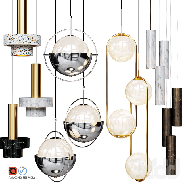 Four Pendant Lights amazing set vol5