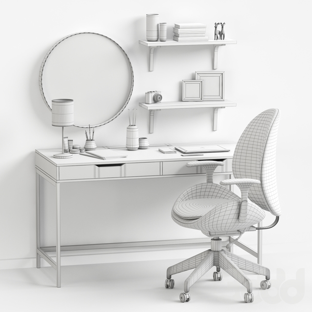 Women's dressing table and workplace.