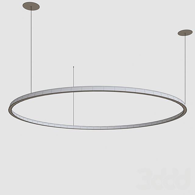 Circular suspended lamp by GROK v3