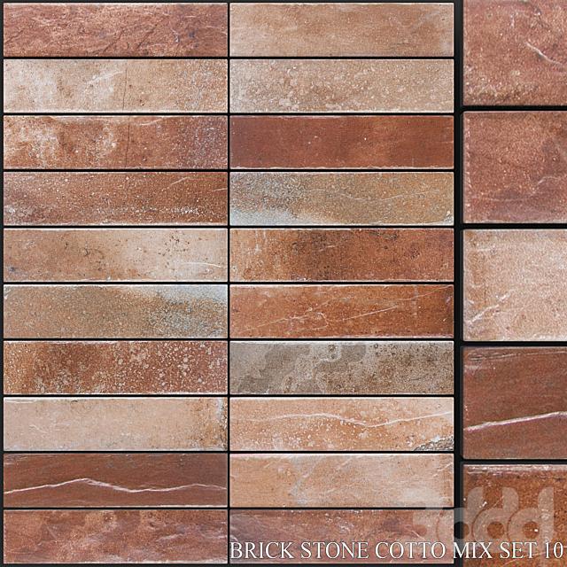 Yurtbay Seramik Brick Stone Cotto Mix Set 10